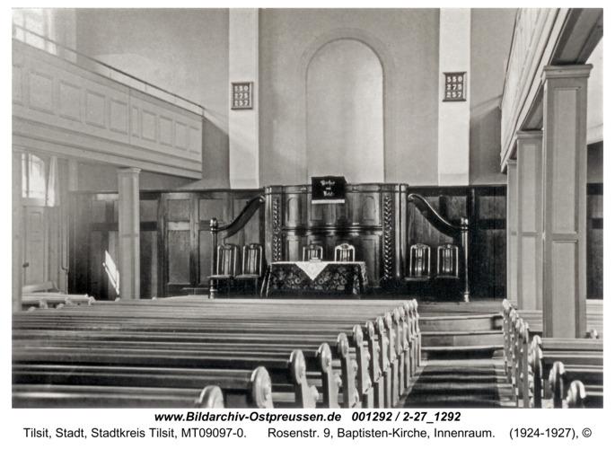Tilsit, Rosenstr. 9, Baptisten-Kirche, Innenraum