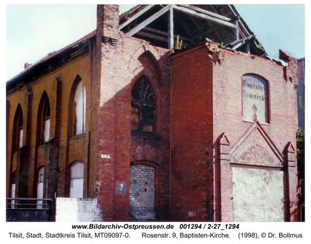 Tilsit, Rosenstr. 9, Baptisten-Kirche
