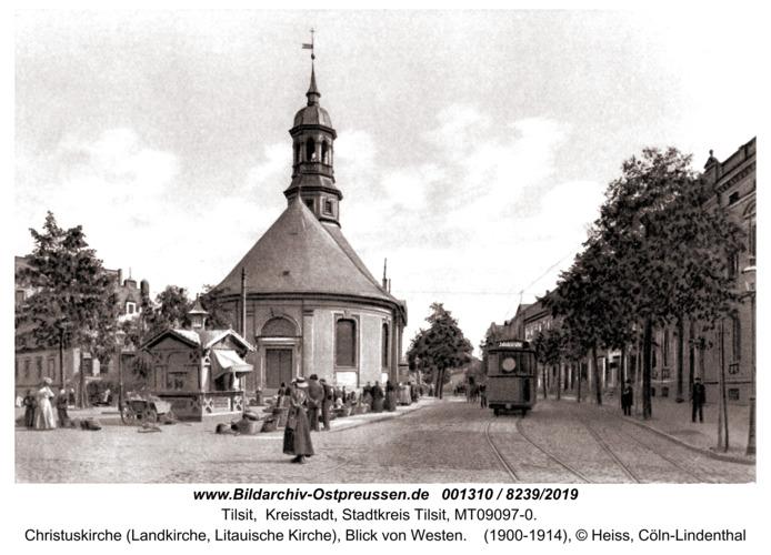 Tilsit, Christuskirche (Landkirche, Litauische Kirche), Blick von Westen