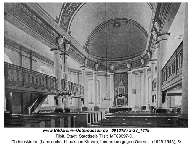 Tilsit, Christuskirche (Landkirche, Litauische Kirche), Innenraum gegen Osten