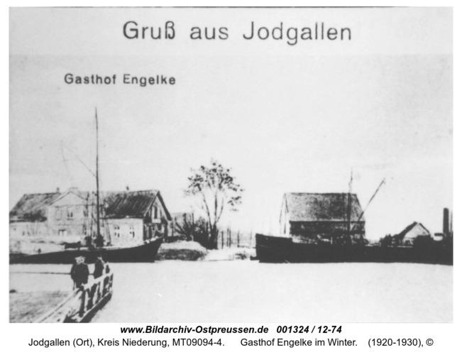 Grünhausen, Gasthof Engelke im Winter