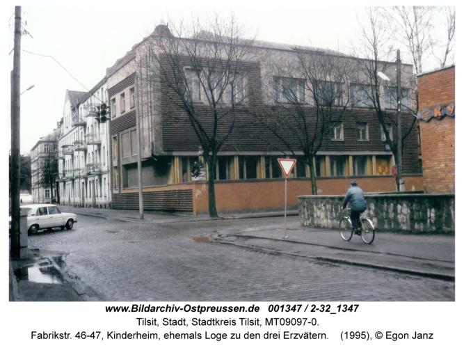 Tilsit, Fabrikstr. 46-47, Kinderheim, ehemals Loge zu den drei Erzvätern