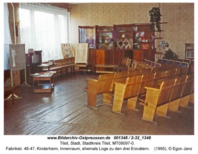 Tilsit, Fabrikstr. 46-47, Kinderheim, Innenraum, ehemals Loge zu den drei Erzvätern