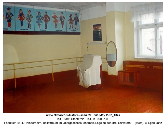 Tilsit, Fabrikstr. 46-47, Kinderheim, Ballettraum im Obergeschoss, ehemals Loge zu den drei Erzvätern