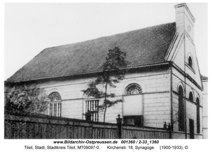 Tilsit, Kirchenstr. 18, Synagoge