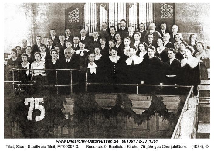 Tilsit, Rosenstr. 9, Baptisten-Kirche, 75-jähriges Chorjubiläum