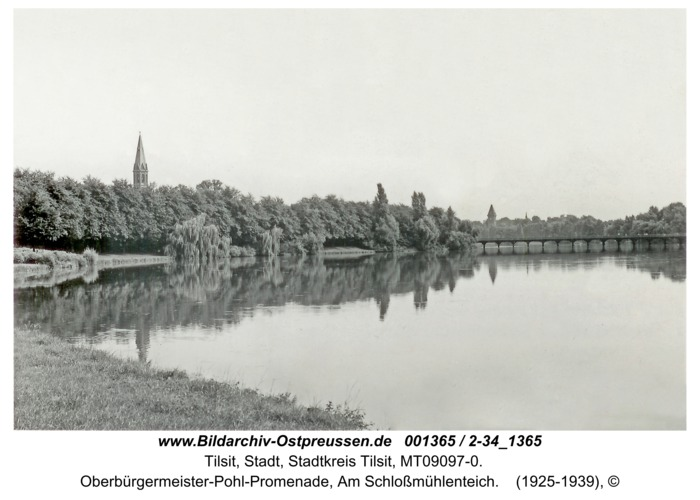 Tilsit, Oberbürgermeister-Pohl-Promenade, Am Schloßmühlenteich