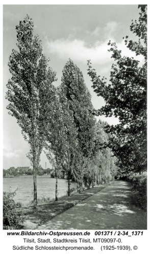 Tilsit, Südliche Schlossteichpromenade