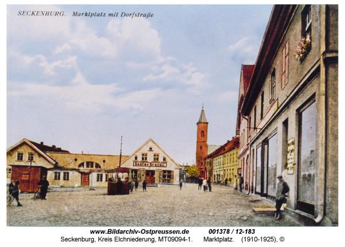 Seckenburg, Marktplatz