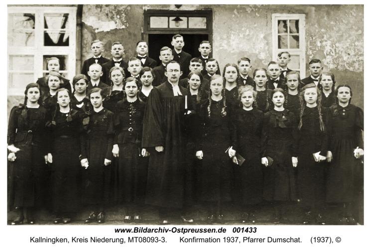 Herdenau, Konfirmation 1937, Pfarrer Dumschat