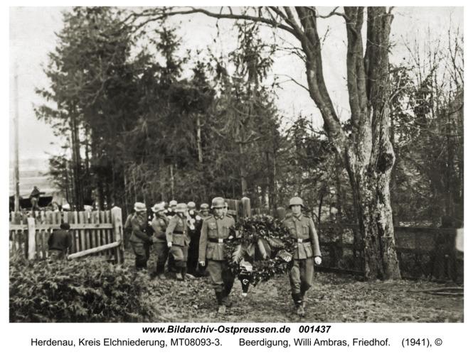 Herdenau, Beerdigung, Willi Ambras, Friedhof