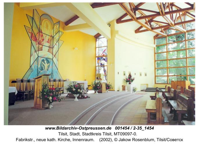 Tilsit, Fabrikstr., neue kath. Kirche, Innenraum