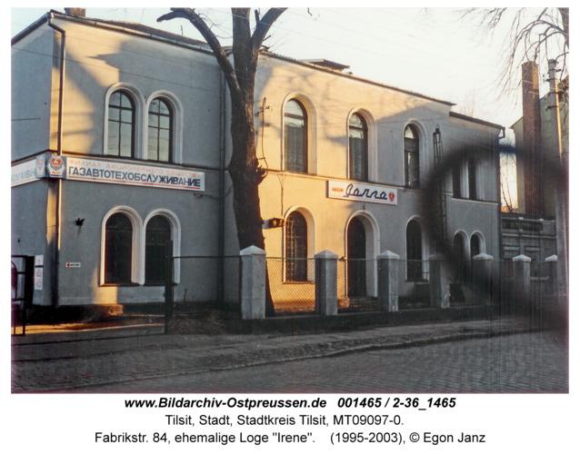 """Tilsit, Fabrikstr. 84, ehemalige Loge """"Irene"""""""