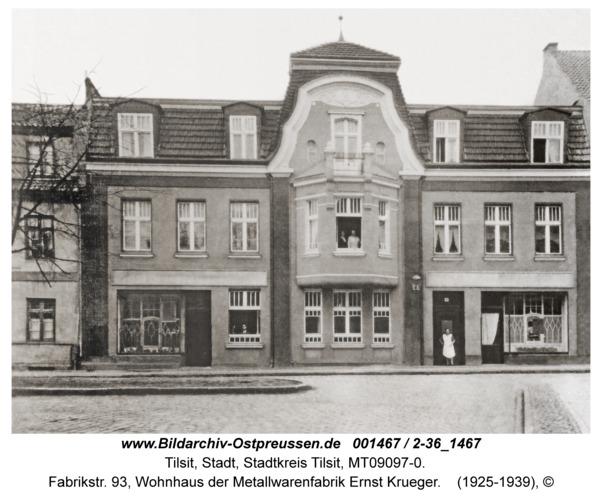 Tilsit, Fabrikstr. 93, Wohnhaus der Metallwarenfabrik Ernst Krueger