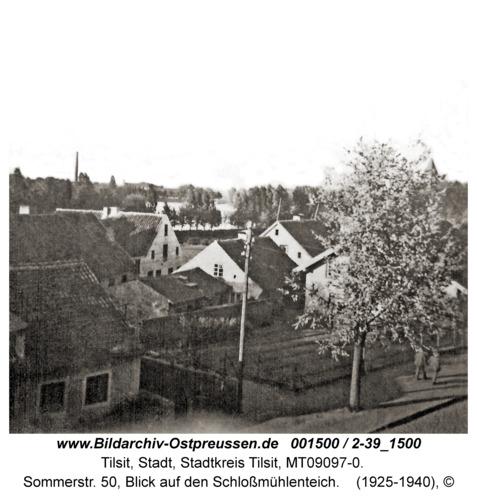 Tilsit, Sommerstr. 50, Blick auf den Schloßmühlenteich