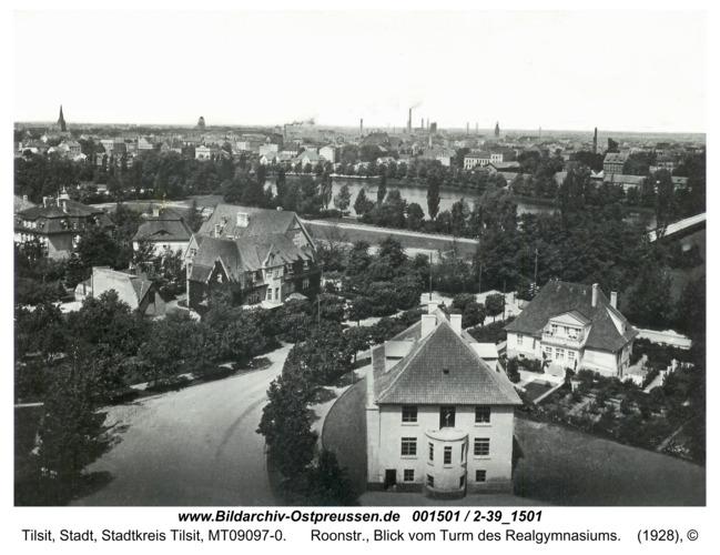Tilsit, Roonstr., Blick vom Turm des Realgymnasiums