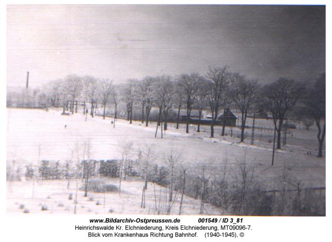 Heinrichswalde, Blick vom Krankenhaus Richtung Bahnhof