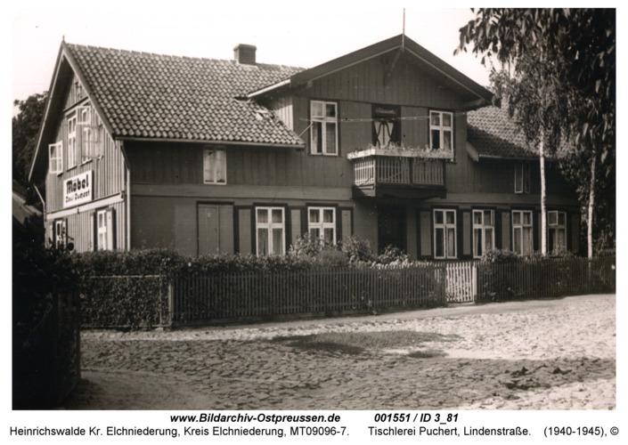 Heinrichswalde, Tischlerei Puchert, Lindenstraße