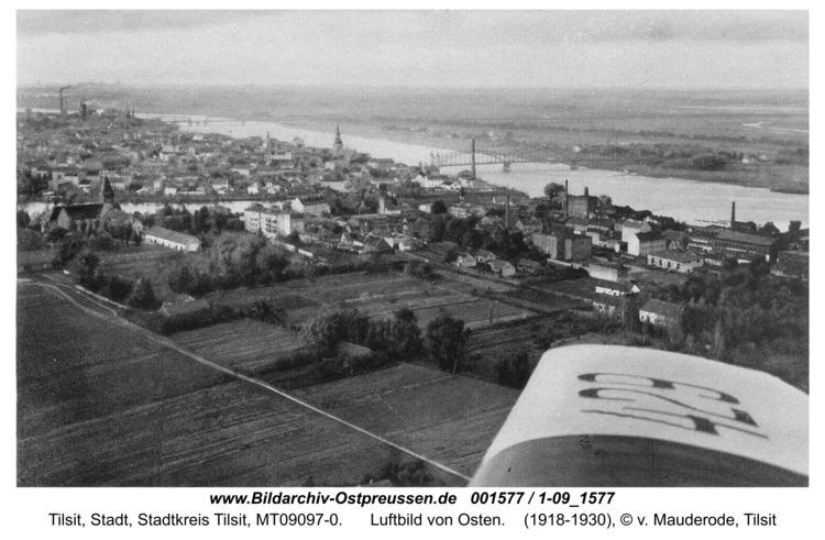 Tilsit, Luftbild von Osten