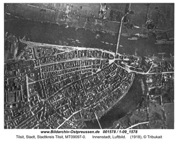 Tilsit, Innenstadt, Luftbild