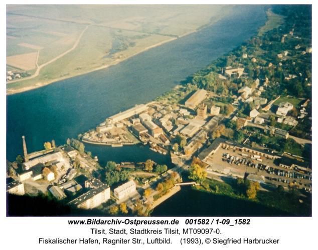 Tilsit, Fiskalischer Hafen, Ragniter Str., Luftbild