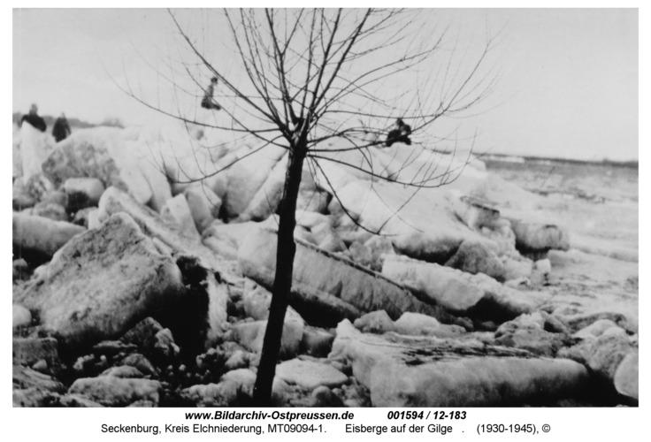 Seckenburg, Eisberge auf der Gilge