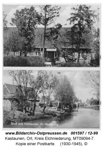 Kastaunen Kr. Elchniederung, Kopie einer Postkarte