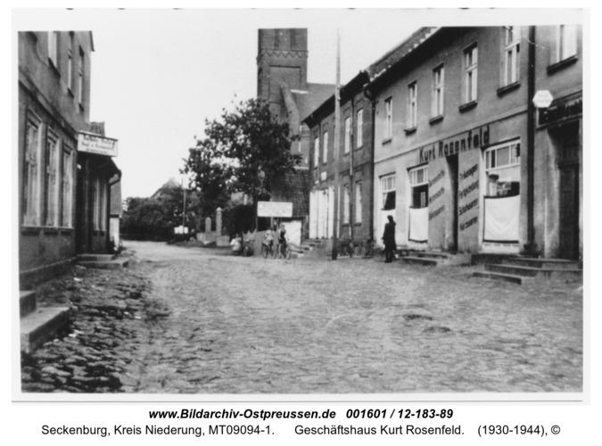 Seckenburg, Geschäftshaus Kurt Rosenfeld