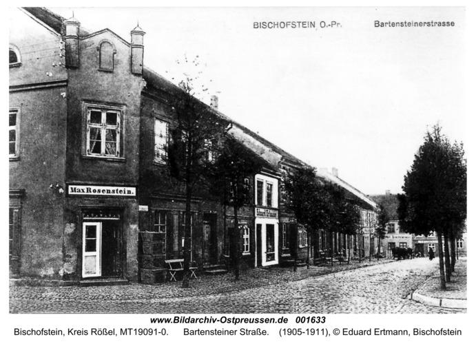 Bischofstein, Bartensteiner Straße