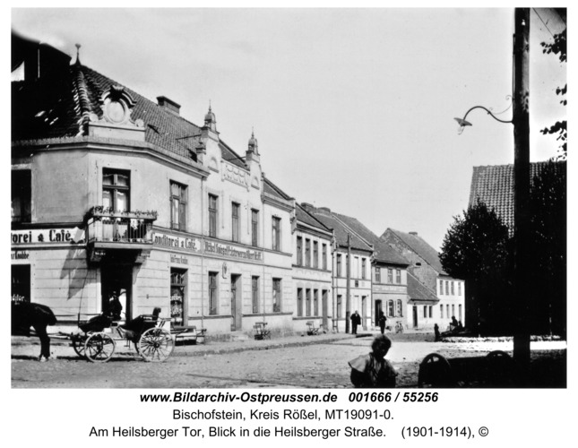 Bischofstein, Am Heilsberger Tor, Blick in die Heilsberger Straße