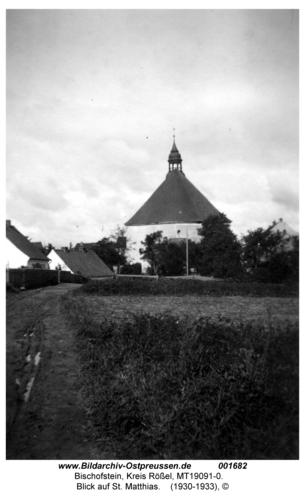 Bischofstein, Blick auf St. Matthias