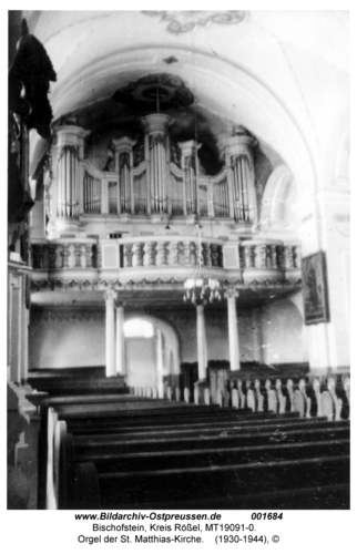 Bischofstein, Orgel der St. Matthias-Kirche