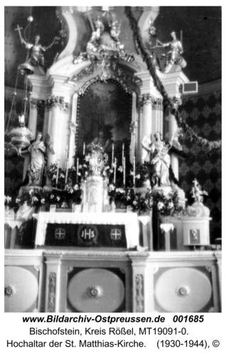 Bischofstein, Hochaltar der St. Matthias-Kirche