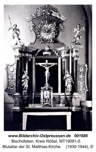 Bischofstein, Blutaltar der St. Matthias-Kirche