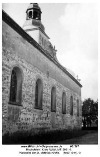 Bischofstein, Westseite der St. Matthias-Kirche