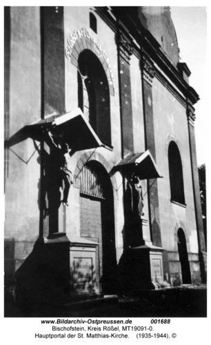 Bischofstein, Hauptportal der St. Matthias-Kirche