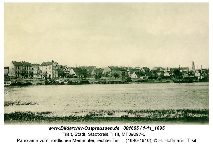 Tilsit, Panorama vom nördlichen Memelufer, rechter Teil