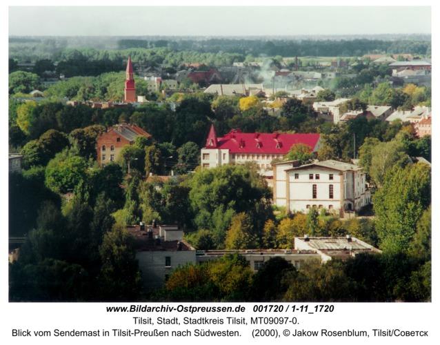 Tilsit, Blick vom Sendemast in Tilsit-Preußen nach Südwesten