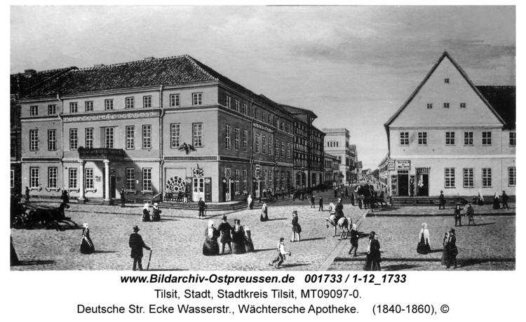 Tilsit, Deutsche Str. Ecke Wasserstr., Wächtersche Apotheke