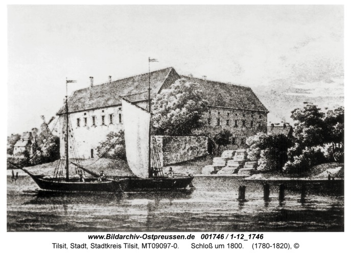 Tilsit, Schloß um 1800