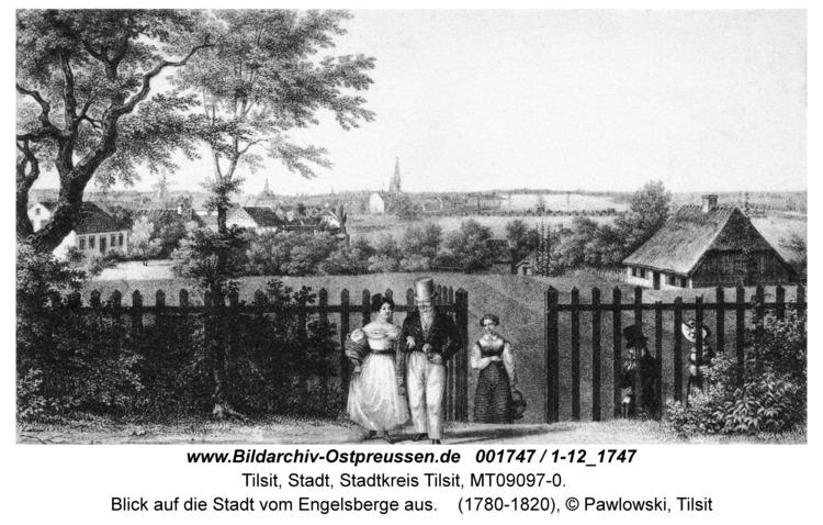 Tilsit, Blick auf die Stadt vom Engelsberge aus