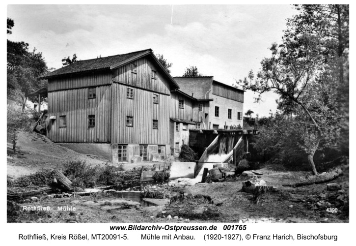 Rothfließ, Mühle mit Anbau
