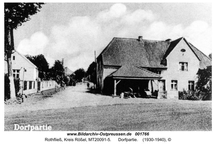 Rothfließ, Dorfpartie