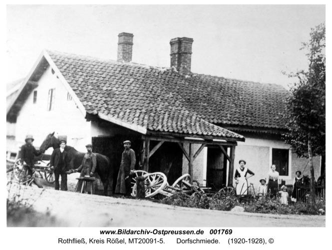 Rothfließ, Dorfschmiede