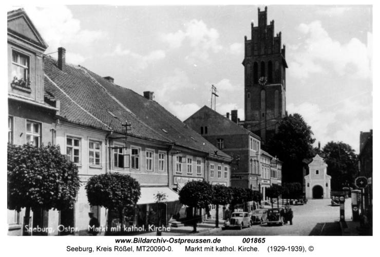 Seeburg, Markt mit kathol. Kirche