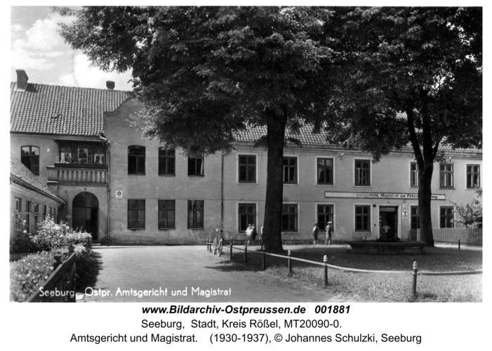 Seeburg, Amtsgericht und Magistrat