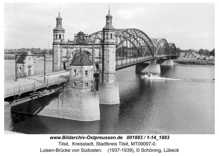 Tilsit, Luisen-Brücke von Südosten