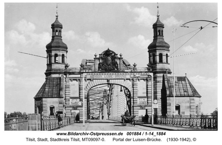 Tilsit, Portal der Luisen-Brücke