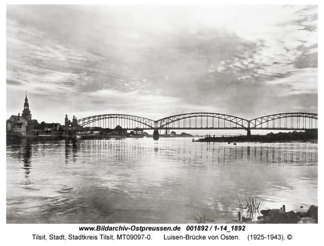 Tilsit, Luisen-Brücke von Osten