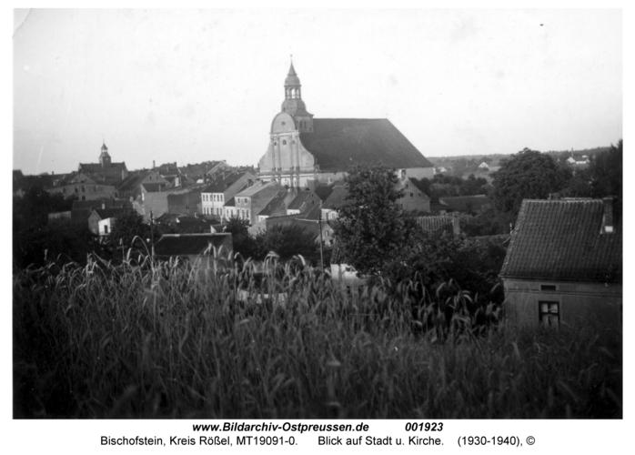 Bischofstein, Blick auf Stadt u. Kirche